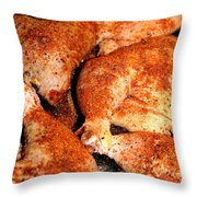 Spicy Chicken Throw Pillow