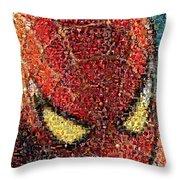 Spider-man Movie Marvel Mosaic Throw Pillow