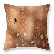 Spider Spots Throw Pillow