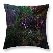 Spider Web In The Magic Forest Throw Pillow
