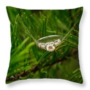 Spider Webs And Diamond Rings 10 Throw Pillow