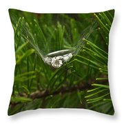 Spider Webs And Engagement Ring 11 Throw Pillow