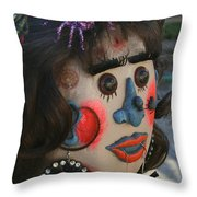 Spiderwoman Scarecrow Throw Pillow