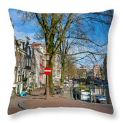 Spiegelgracht 36. Amsterdam Throw Pillow