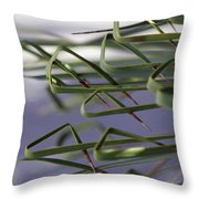 Spike Curls Throw Pillow