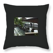 Spillway In Indiana Throw Pillow