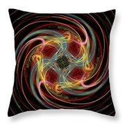 Spin Fractal Throw Pillow