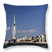 Spinnaker Tower And Round Tower Portsmouth Throw Pillow