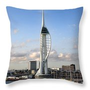 Spinnaker Tower Throw Pillow by Jane Rix