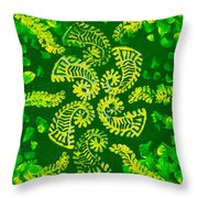 Spinning Greens Throw Pillow