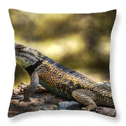 Spiny Lizard Throw Pillow