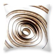 Spiral Throw Pillow by Bernard Jaubert