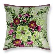 Spiral Bouquet  Throw Pillow