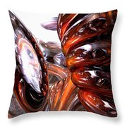 Spiral Dimension Abstract Throw Pillow