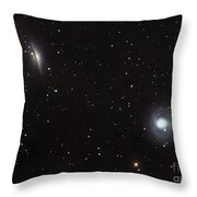 Spiral Galaxies Ngc 1068 And Ngc 1055 Throw Pillow