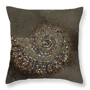 Spiral Textures Throw Pillow