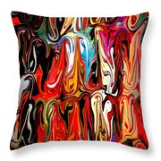 Spirit Of Mardi Gras Throw Pillow