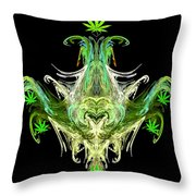 Spirit Of The Leaf Throw Pillow