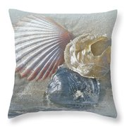 Spirit Of The Sea - Seashells And Surf Throw Pillow