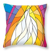 Spirit Rests As A Dove Throw Pillow