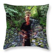 Spirit Rising From The Creek Throw Pillow