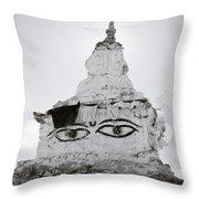 Spirituality In The Himalayas Throw Pillow
