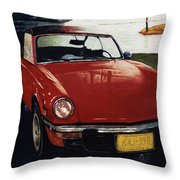 Spitfire By Night Throw Pillow
