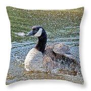 Splashing Fun Throw Pillow
