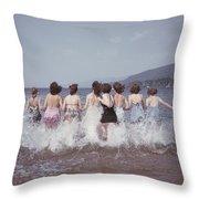 Splashing Into Lake George Throw Pillow