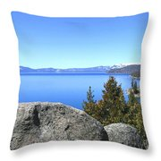 Splendid Lake Tahoe Throw Pillow