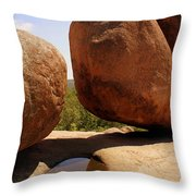 Split Bouuder Throw Pillow
