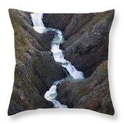 Split Creek Cascading Down Brabazon Throw Pillow