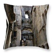 Split Croatia's Old Town Throw Pillow