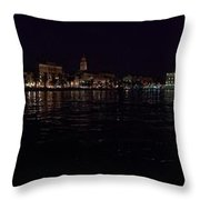 Split Old Town By Night Throw Pillow