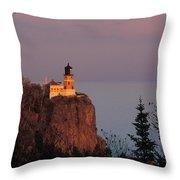 Split Rock Lightghouse - Fs000635 Throw Pillow
