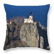 Split Rock Lighthouse 76 Throw Pillow