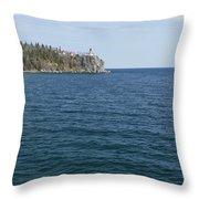 Split Rock Lighthouse 80 Throw Pillow