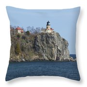 Split Rock Lighthouse 83 Throw Pillow