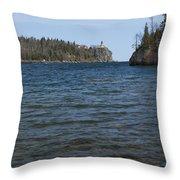 Split Rock Lighthouse 86 Throw Pillow