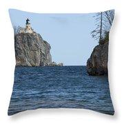 Split Rock Lighthouse 87 Throw Pillow