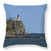 Split Rock Lighthouse 89 Throw Pillow