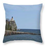 Split Rock Lighthouse 91 Throw Pillow