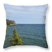 Split Rock Lighthouse 92 Throw Pillow