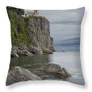 Split Rock Lighthouse In Northern Minnesota Throw Pillow