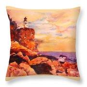 Split Rocks Golden Memories       Throw Pillow