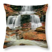 Split Up The Middle Throw Pillow