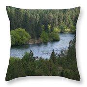 Spokane River Scene 2 Throw Pillow