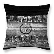 Sponge Diver Supply Throw Pillow