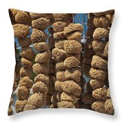 Sponge Docks Throw Pillow