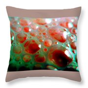 Spooky Bubbles Red Throw Pillow